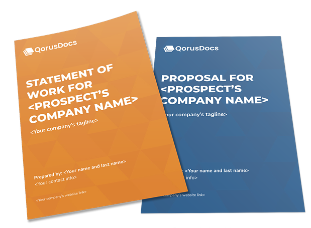 free proposal and SOW templates