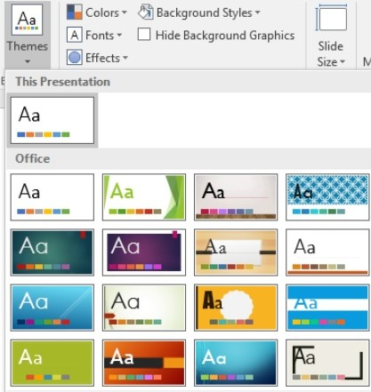 PowerPoint 2016 pre-installed themes.jpg