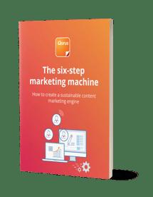 Six-step marketing machine cover