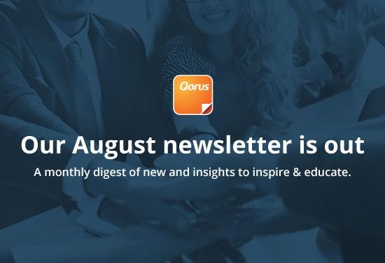 Qorus August newsletter