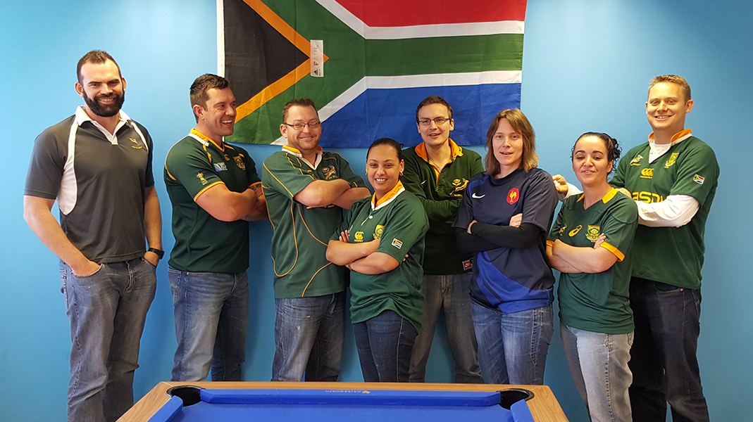 Team South Africa and France