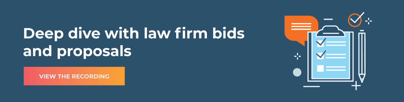 Webinar - Deep dive with law firm bids and proposals