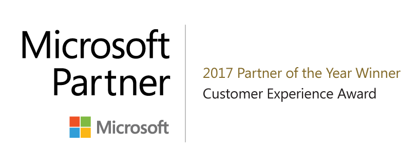 Microsoft Customer Experience Winner 2017