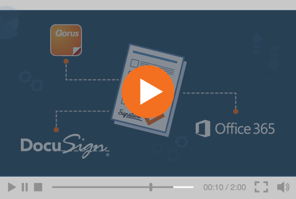 Extending the value of O365 with Qorus + DocuSign