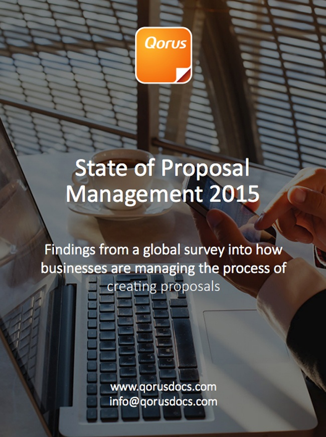 State of Proposal Management 2015 report cover