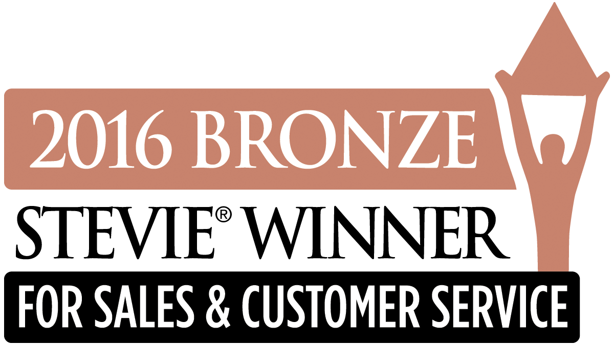2015 Bronze Stevie Winner for sales and customer service
