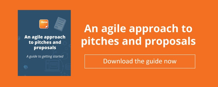 Agile approach to pitches and proposals